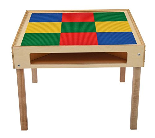 Bird in Hand 249477 Large Grid Standard Top Activity Table, Square Building Block, 32-1/4'' x 32-1/4'' x 24-3/16'', Multi-Colored
