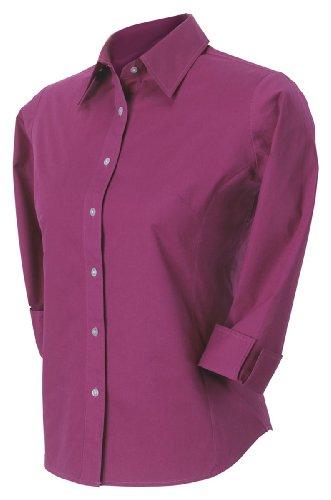 (Devon & Jones Ladies' Three-Quarter-Sleeve Stretch Poplin Blouse, X-Large, Orchid )
