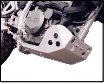 Kawasaki KLR 650 SW Motech Crash Bar Compatible Version Full Protection Skid Plate Constructed with 3/16'' 5052 H-32 Aluminum. All mounting hardware included. by Ricochet by Skid Plate Armor (Image #3)'