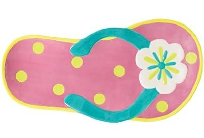 Boston Warehouse Sunshine Sandals Shaped Platter