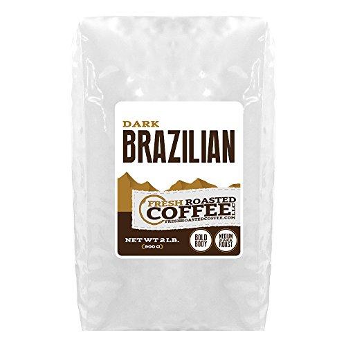 Dark Brazilian Cerrado Coffee, Whole Bean Bag, Fresh Roasted Coffee LLC. (2 LB.) by FRESH ROASTED COFFEE LLC...