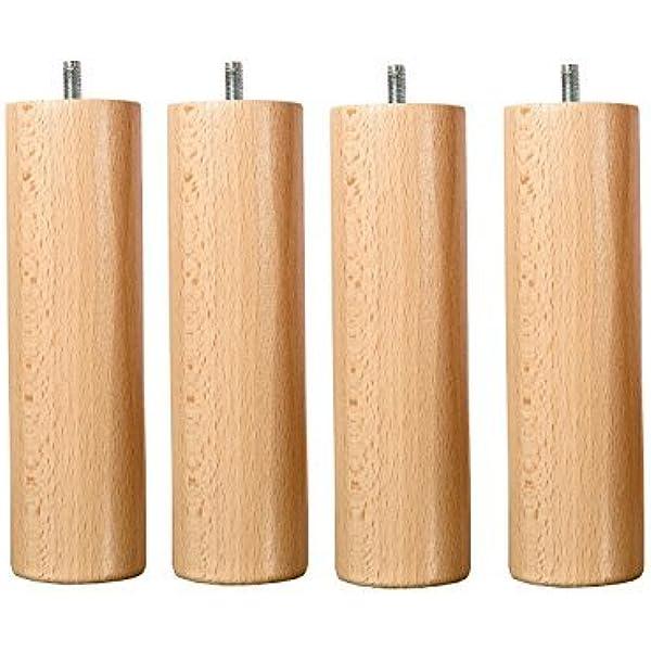 Wood Select - Juego de 4 patas para cama de 25 cm, varios ...
