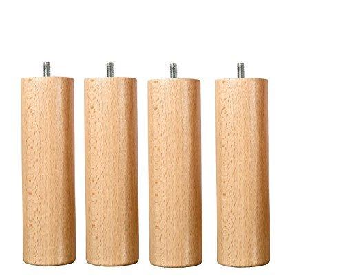 Wood select Piede letto 25cm diversi tipi di fissaggio (Piedino standard)