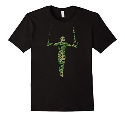 Mens Mens or Boys Gymnastics Camouflage T-shirt Small Black