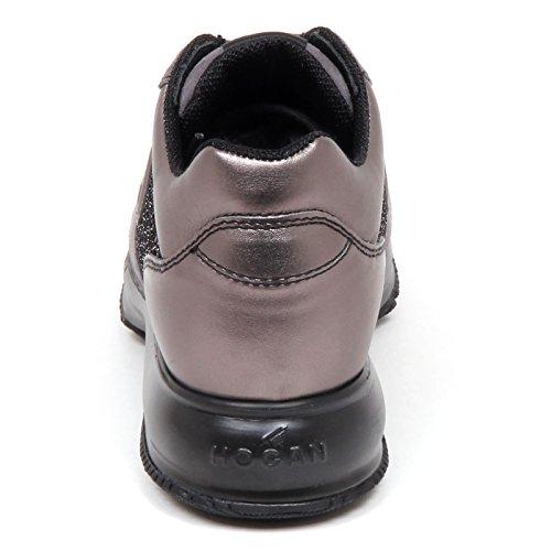 Scarpe E4552 Hogan Grigio Sneaker Donna Shoe Interactive H Grey 3D Bronzo Paillettes Woman FCCXcW