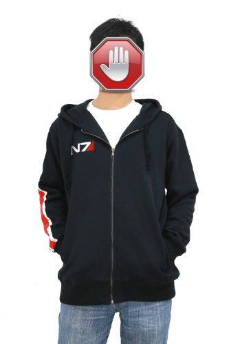 xcoser Mass Effect Game Costume Cosplay N7 Hoodie Jacket Sweatshirt Updated Version in Size M