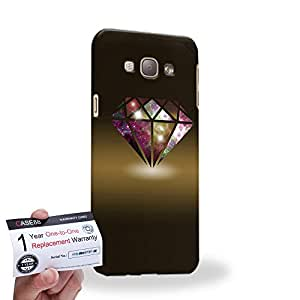 Case88 [Samsung Galaxy A8] 3D impresa Carcasa/Funda dura para & Tarjeta de garantía - Art Fashion Diamond Nebula Brown