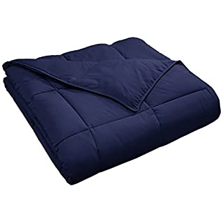 SUPERIOR Down Alternative Comforter - Bed Comforter, Medium-Fill Weight, All Season Comforter, Twin, Navy Blue