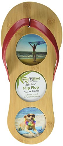 Flip Flop Photo Frames (Totally Bamboo Flip Flop Picture Frame - Beach Life Decor , Vacation Collage or a Unique Gift. Made from 100% Natural Bamboo Wood (15.5 x 6.75-Inches))