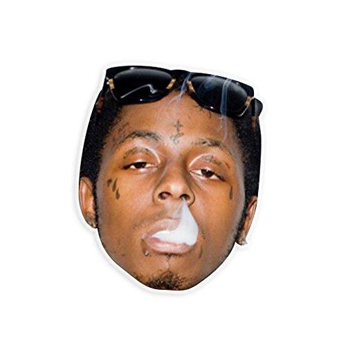 "High Lil Wayne Mask by RapMasks - 12"" x 9"" Waterproof Laminated"