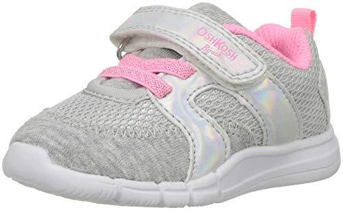 OshKosh B'Gosh Girls' Public Sneaker, Grey, 10 M