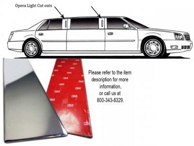 QAA FITS TOWN CAR 2007-2009 LINCOLN (2 Pc: Stainless Steel Pillar Post Trim w/Opera Light Access, 4-door) OL48680 ()