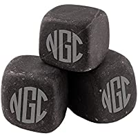 Personalized Man Cave Gift, Engraved Whiskey Stones, Custom Whiskey Rocks, Chill Stones for Him, Monogrammed - BWS02