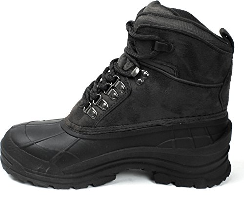Style LB Snow Black 6 for Boots Leather LABO Waterproof 0Sdg6qqw