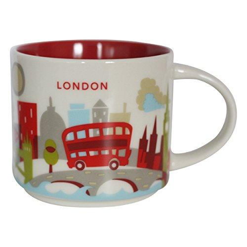 New Starbucks London You are Here Mug Coffee Cup Big Ben Gherkin St Pauls Eye Thames Tower Bridge YAH Coffee - Thames St