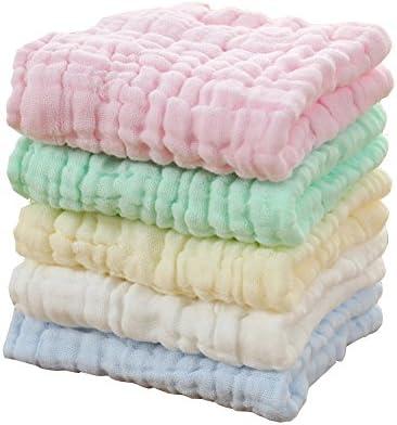 Hosaire Bebé recién nacido gasa Toalla de baño los niños la burbuja de gasa de algodón una toalla de baño absorción de agua blanda el Four Seasons gruesa ...