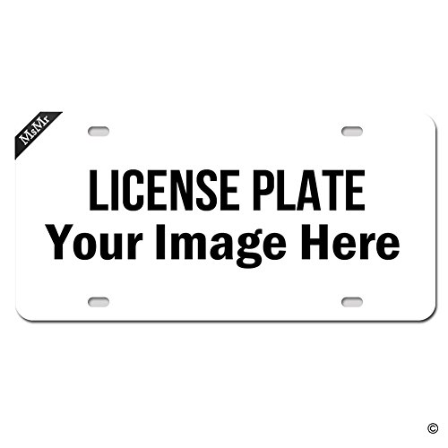 MsMr Personalized License Plate Cover Monogrammed Metal Plate for Car - Decorative Front License Plate Cover (4 Holes, Silver) Custom Souvenirs/Gifts - 12x6inch