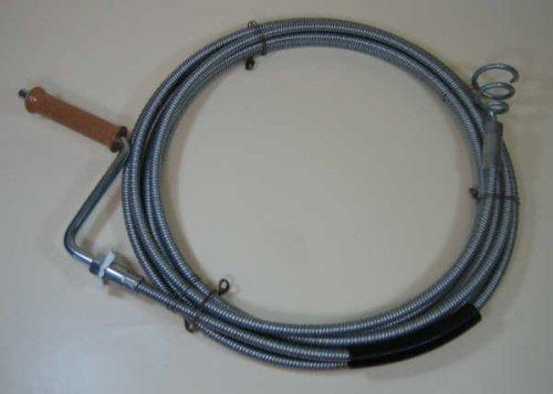 Rohrreinigungsspirale 10mm 15m lang mit auswechselbarem Trichterbohrer