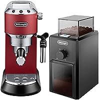 Delonghi Beans Espresso Machine,Red - EC685.R + DeLonghi Coffee Grinder KG79
