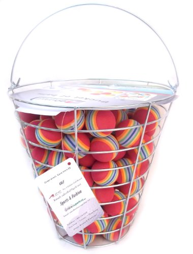 A99 Golf Rainbow Foam Ball Practice 50 Pcs with Bucket by A99 Golf
