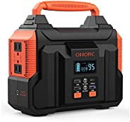 300W Portable Power Station, OMORC Pure Sine Wave Camping Generator, 60000mAh Portable Power Supply with 45W P