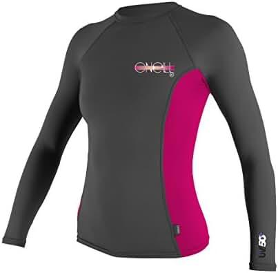 O'Neill Wetsuits UV Sun Protection Womens Skins Long Sleeve Crew Sun Shirt Rash Guard