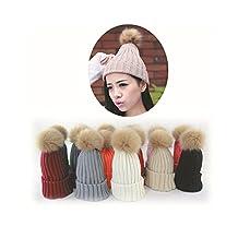 ILOVEDIY Women Winter Hats with Pom Pom Faux Fur Ball Beanie