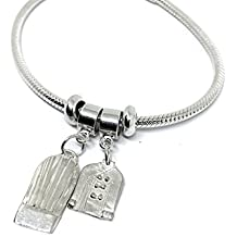 Sterling Silver Chef Coat and Hat European Style Charm Bracelet with Snake Chain