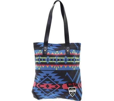 Polo Ralph Lauren Signature Tote Bag -Blue multi (Ralph Handbags Lauren Polo)