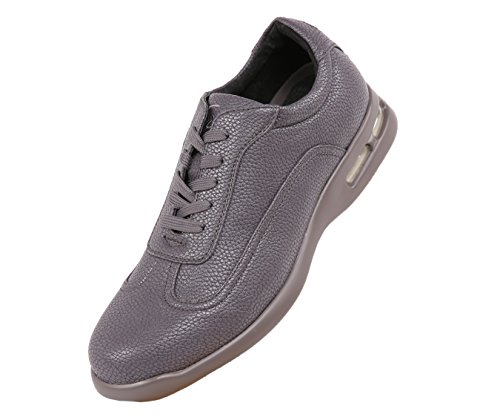 Sio Low Top Sneakers with Smooth Patent & Pebble Grain Designs Styles Braun, (011 Pebbles)