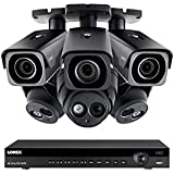 Lorex 8 channel NR9082 4K Security System 4KHDIP833NV- 3 4K 8MP LNE8950A Audio Turret Cameras, 3 4K 8MP LNB8973B Variable-Focus Bullet Cameras