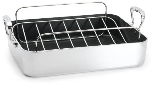 Aluminum French Roaster - Chef's Design 16.5 Inch French Roaster with Rack