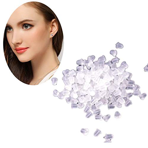 Gbell Clear Soft Rubber Earring Backs -Bullet | Flower | Pad Clutch Earring Stoppers Safety Backs Replacement for Fish Hook Stud Earrings Beading Jewellery,Unisex,50/100/144/150/1000 Pcs ( 100 Pcs) by Gbell (Image #6)