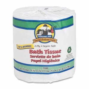 "GJO2508080 Bath Tissue, 2-Ply, 550SH/RL, 4""x4"", 80RL/CT, WE"