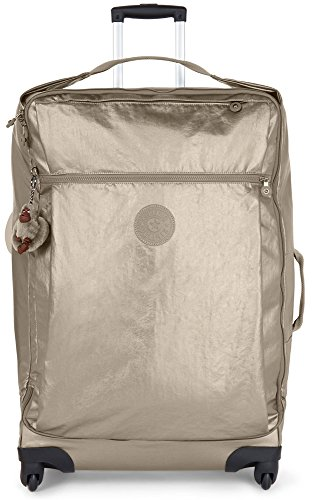 Kipling Women's Darcey Large Metallic Wheeled Luggage, Mttlcpwter by Kipling