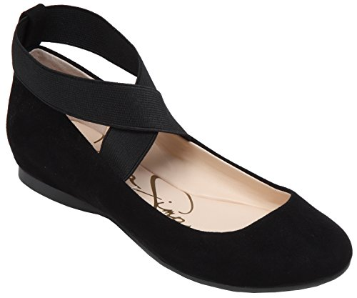 Jessica Simpson Women's Mandayss Ballet Flat (8 B(M) US, Black ()