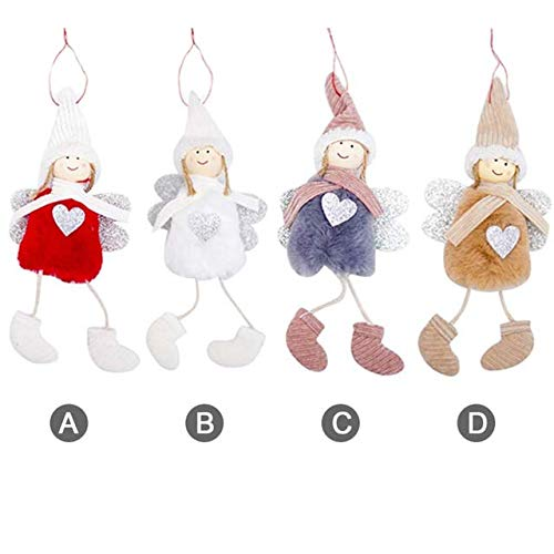 - Kalolary Christmas Doll Hanging Angel, 4 Pack Cute Angel Plush Doll Christmas Tree Door Wall Hanging Decoration House Ornaments Patio Lawn Garden Party Halloween Decoration