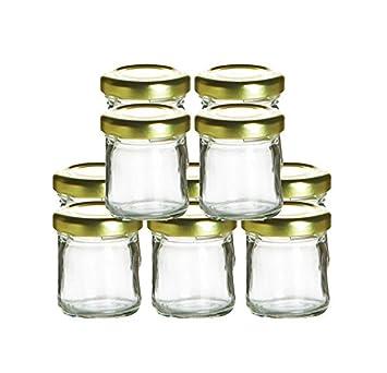 Amazon Cafe Cubano Mini Glass Jars With Lids 10 Piece Set Of