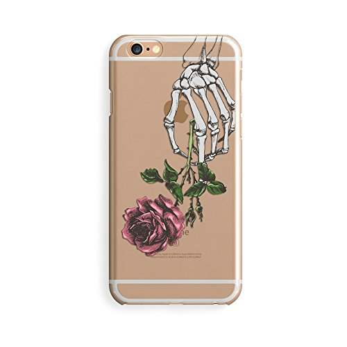 TPU Clear Case for iPhone 7 Plus or iPhone 7s Plus - Crane Rose Skeleton (Crane Rose)