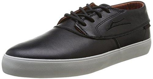 Lakai Camby Mid Dqm - Zapatillas de Skateboarding de cuero Hombre negro - Noir (Black/Brown Leather)