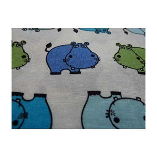 Unique Nilpferd Femme Bunt Kinder Weiß Multicolore Hippo Tiere Mouchoir Taille Boutique xXrTqwUXg