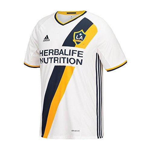 MLS LA Galaxy Steven Gerrard #8 Boys Replica Short Sleeve Player Jersey, White, Large