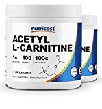 Nutricost Acetyl L-Carnitine (ALCAR) - 1000mg Per Serving - Pure Acetyl L-Carnitine Powder