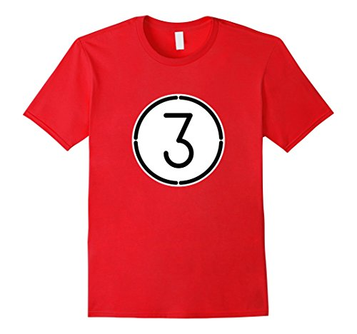 Group Of Three Halloween Costumes (Mens Red 3 Ball Pool Funny Halloween Group Costume Gift T-Shirt Large Red)