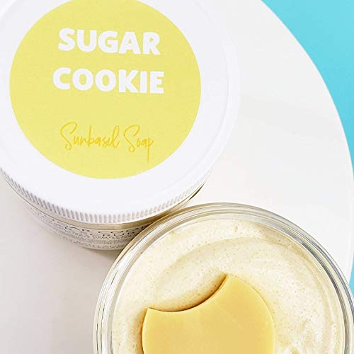 Sugar Cookies Natural Body Scrub Exfoliating Soap. 10 oz Jar
