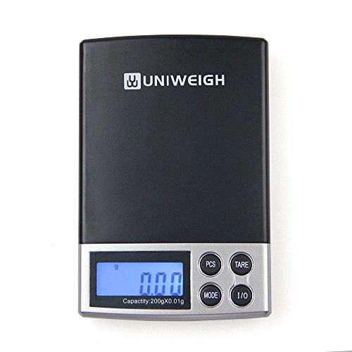 Digital Package (UNIWEIGH Portable LCD Electronic Digital Scale Pocket Jewelry Scale Weight Weighing Scale Balance (200G0.01G))