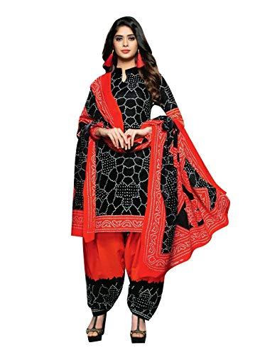 Bandhani Printed Cotton Salwar Kameez Ready to Wear Indian Dress (Size_46, - Salwar Suit Cotton