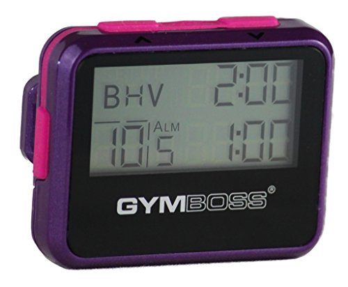 Gymboss Interval Timer and Stopwatch - Violet/Pink Metallic Gloss (Best Run Walk Interval App)