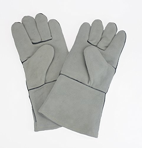 Hot Max 22050 Gray Leather Lined Welding Gloves with Kevlar Stitching (Gloves Economy Welding)