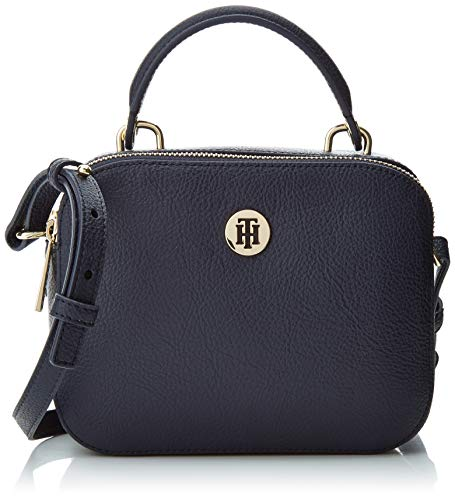 Core Crossover Hilfiger body Cross Th Black Tommy Bag Silverfiligree Blue Women's nawx7